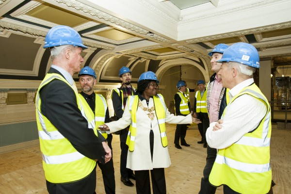 Newsletter from contractor at former Southwark Town Hall including visit by Mayor of Southwark