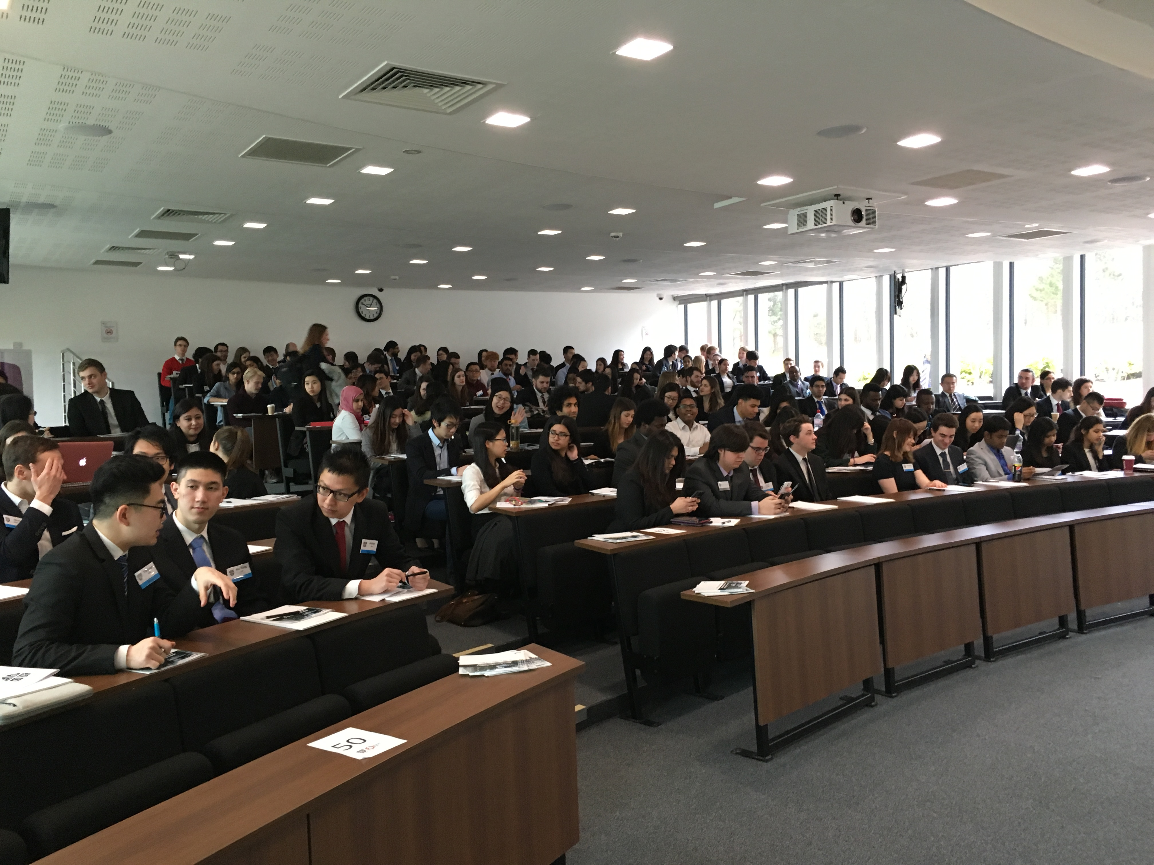 Here we go: delegates awaiting their first task