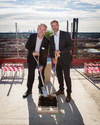 "Photos of wonderful ""Topping Out"" celebration at Aspire Point, Three Mills West, Stratford"