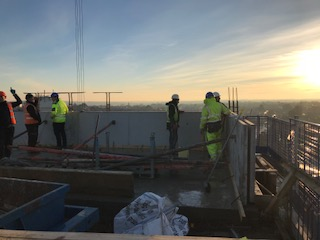 Topping Out at Pablo Fanque House