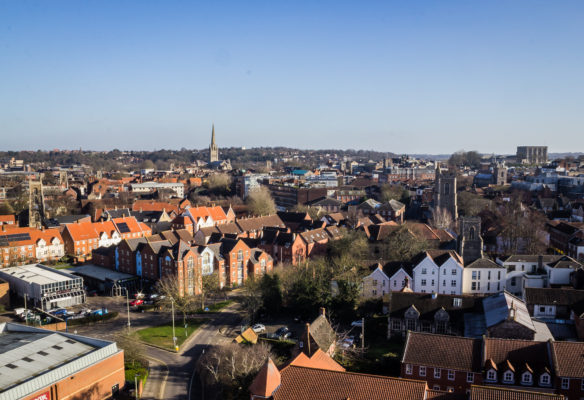 Aerial Photographs of Norwich