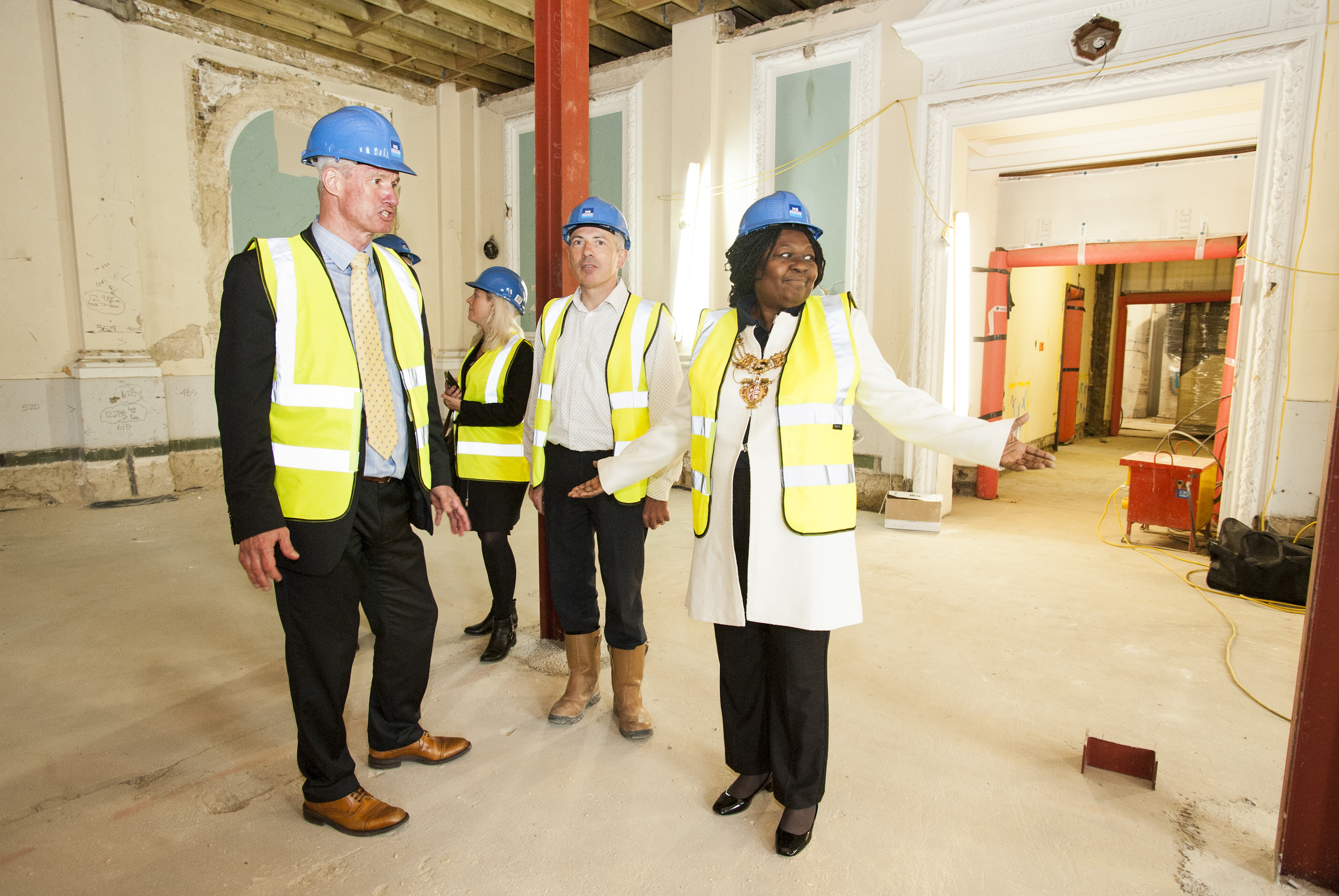 Photographs at an event showcasing the redevelopment of the former Town Hall on Peckham Road, Southwark, into student accommodation, Thursday 15th October 2015