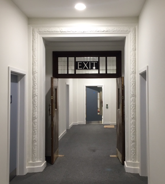 Corridor linking old and new