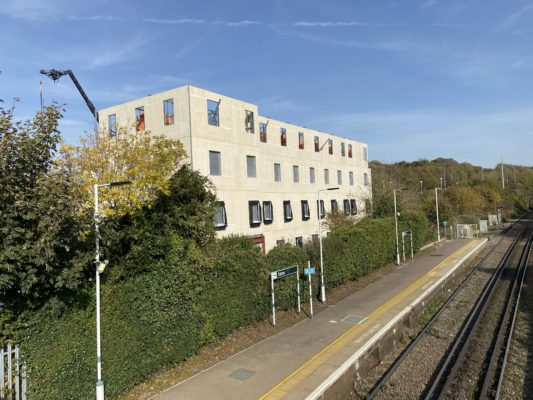Progress at Falmer Cottages, Brighton
