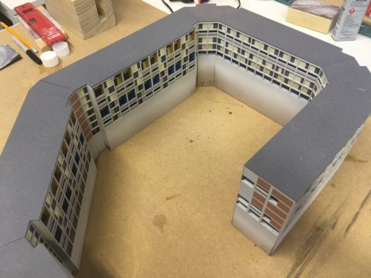 Beton House, progress photos of David Riley scale model
